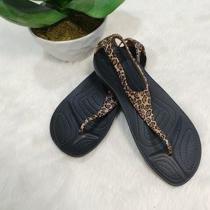 Crocs Serena Flip-Flops  Animal print size 8